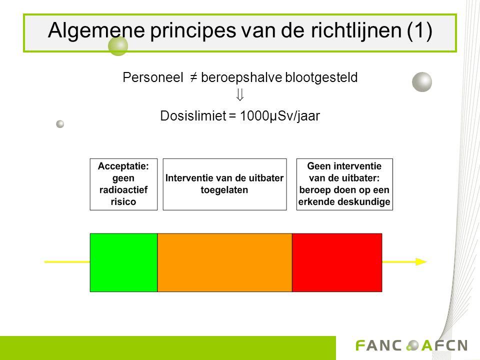 Algemene principes van de richtlijnen (1)