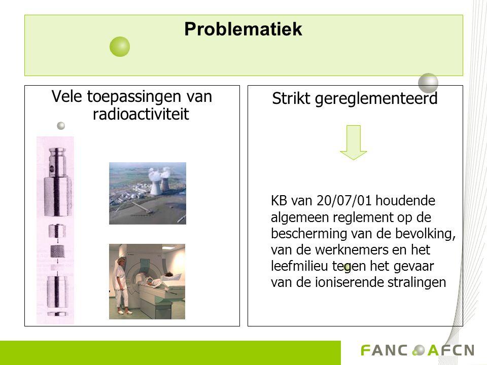 Problematiek Vele toepassingen van radioactiviteit