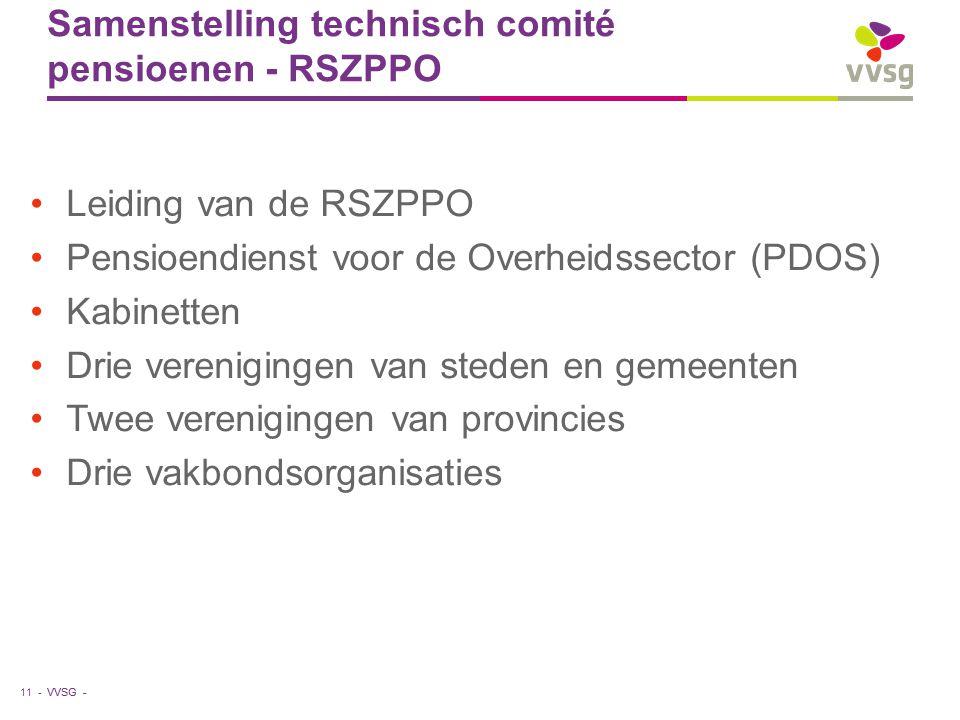 Samenstelling technisch comité pensioenen - RSZPPO