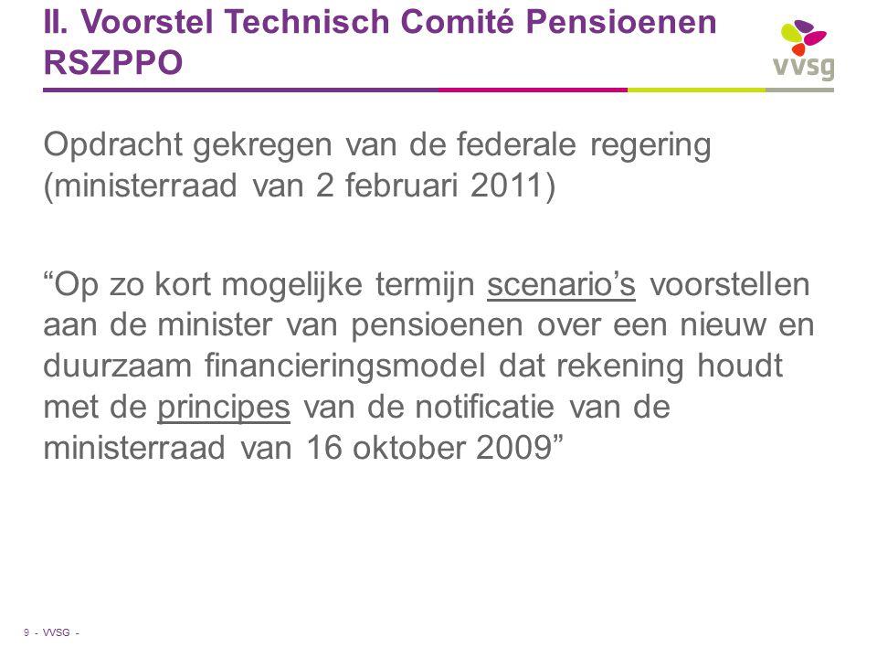 II. Voorstel Technisch Comité Pensioenen RSZPPO