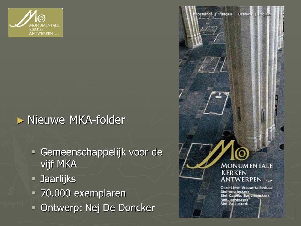 Nieuwe MKA-folder Gemeenschappelijk voor de vijf MKA Jaarlijks
