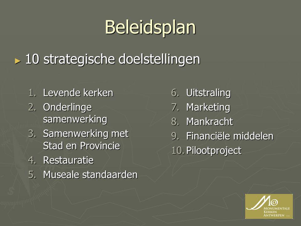 Beleidsplan 10 strategische doelstellingen Levende kerken