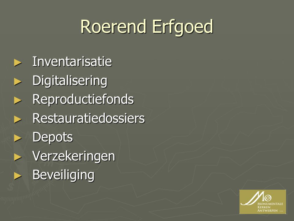 Roerend Erfgoed Inventarisatie Digitalisering Reproductiefonds