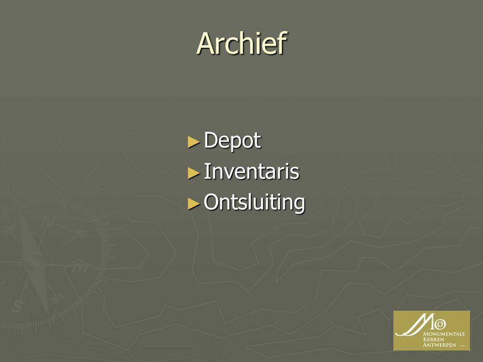 Archief Depot Inventaris Ontsluiting