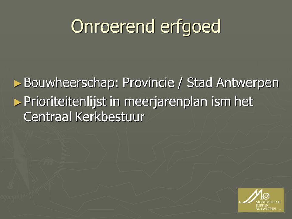 Onroerend erfgoed Bouwheerschap: Provincie / Stad Antwerpen