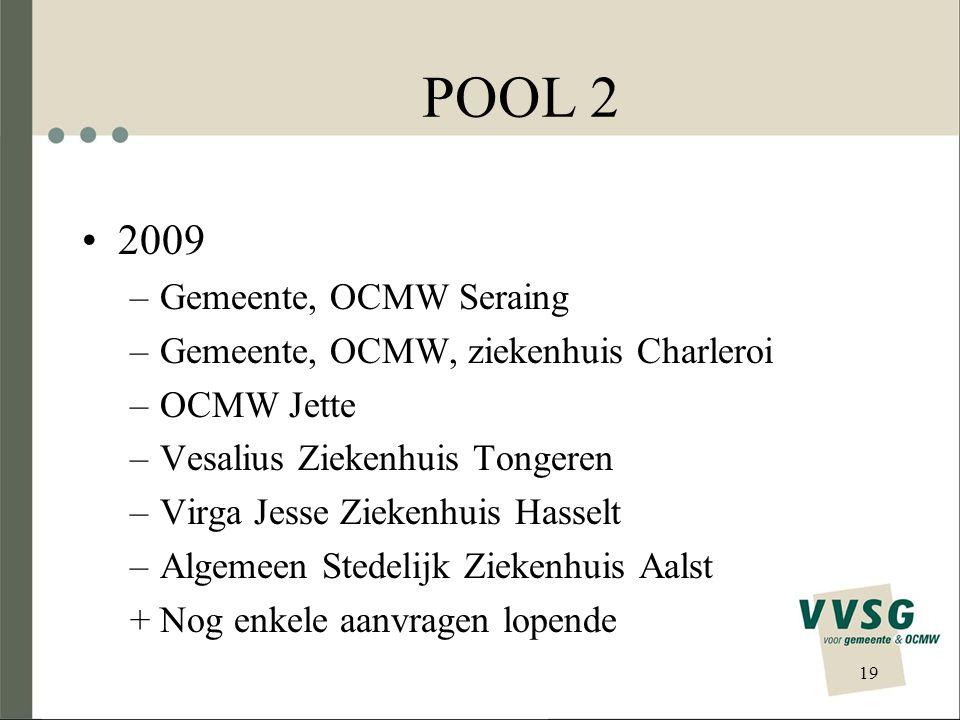 POOL 2 2009 Gemeente, OCMW Seraing