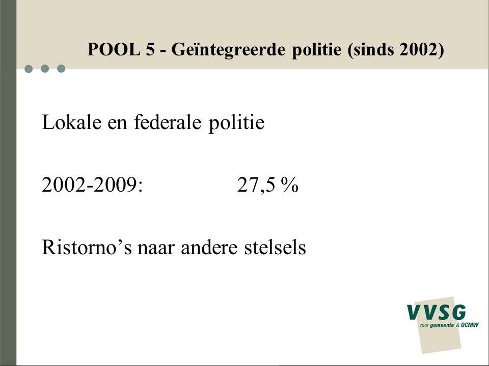 POOL 5 - Geïntegreerde politie (sinds 2002)