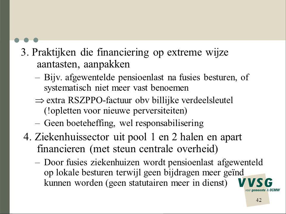 3. Praktijken die financiering op extreme wijze aantasten, aanpakken
