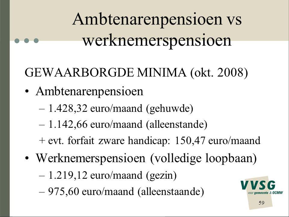 Ambtenarenpensioen vs werknemerspensioen