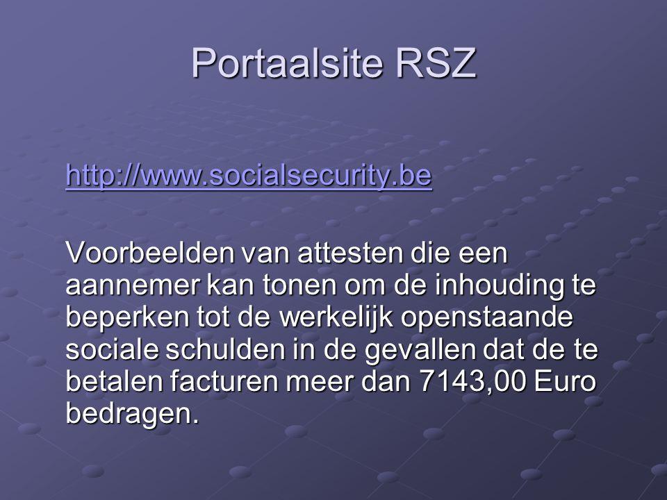 Portaalsite RSZ http://www.socialsecurity.be