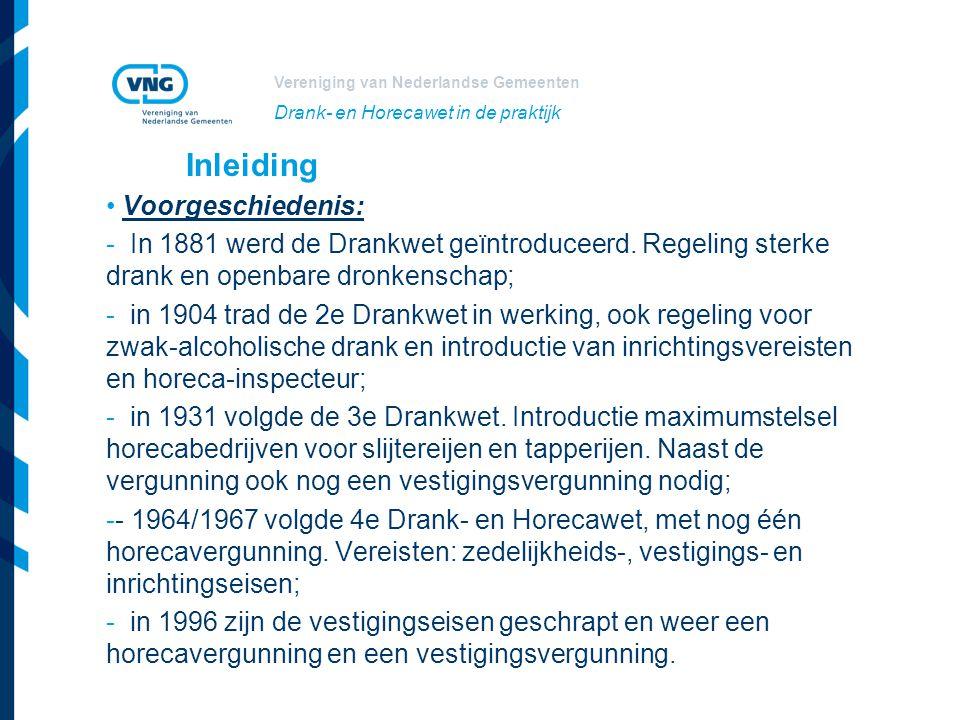 Inleiding Voorgeschiedenis: