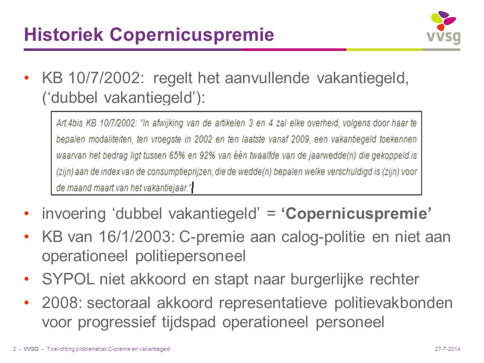 Historiek Copernicuspremie
