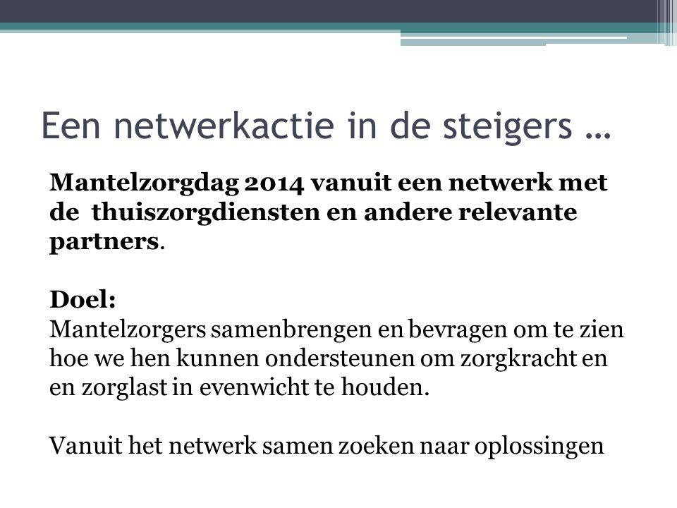 Een netwerkactie in de steigers …