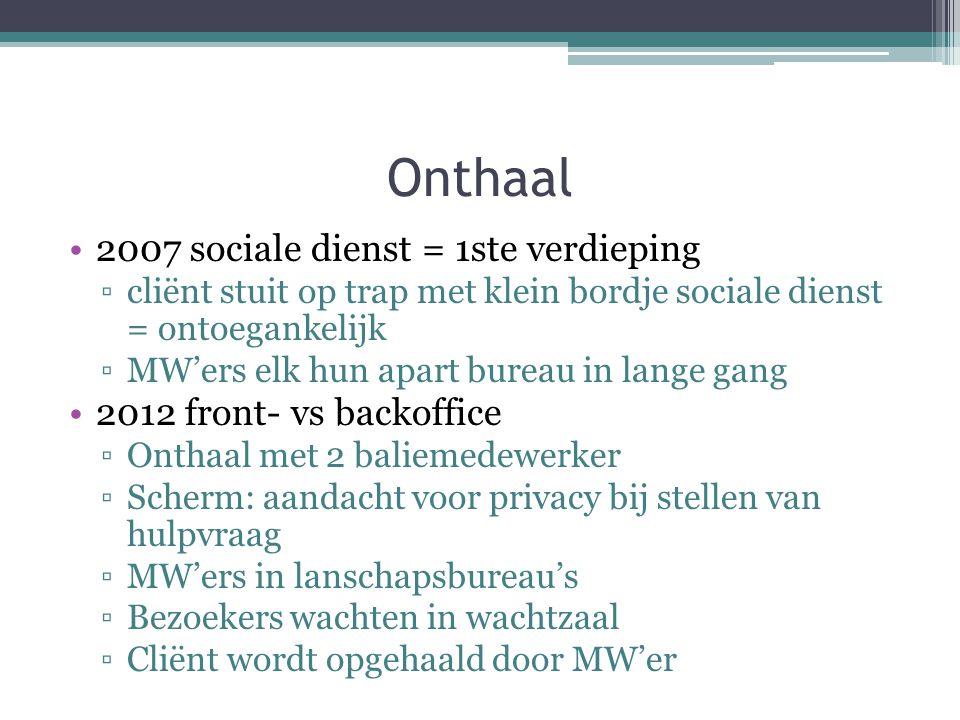 Onthaal 2007 sociale dienst = 1ste verdieping