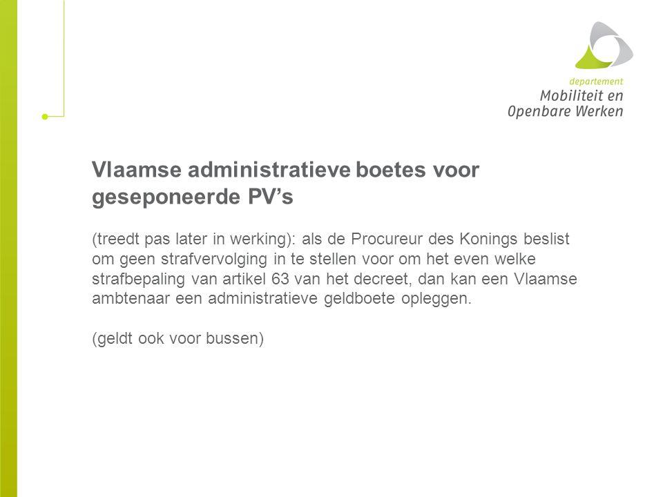 Vlaamse administratieve boetes voor geseponeerde PV's