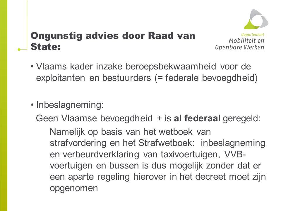 Ongunstig advies door Raad van State:
