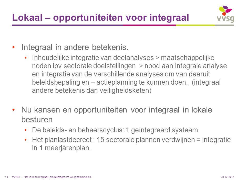 Lokaal – opportuniteiten voor integraal
