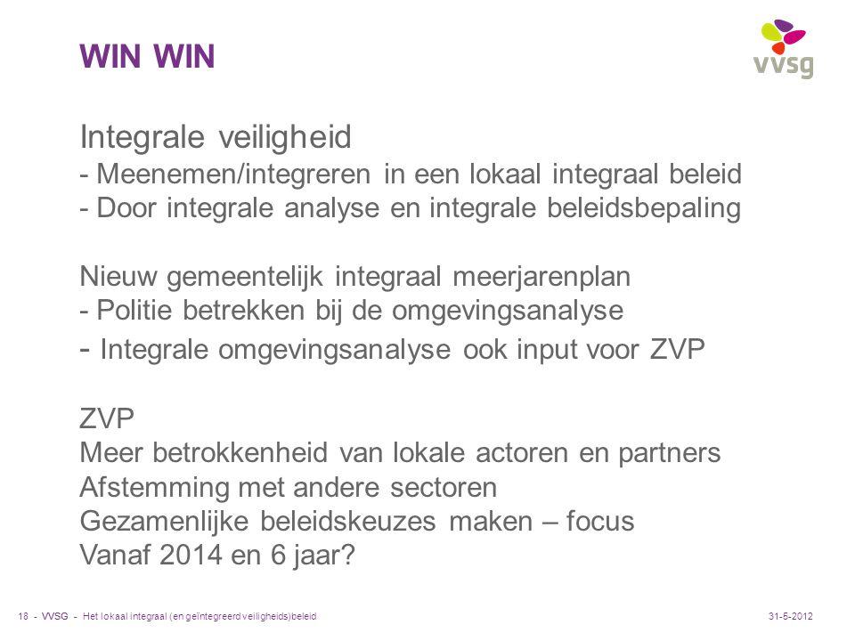 - Integrale omgevingsanalyse ook input voor ZVP
