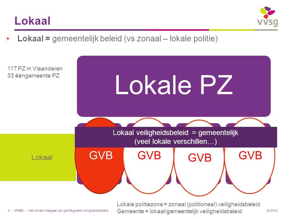 Lokaal veiligheidsbeleid = gemeentelijk (veel lokale verschillen…)