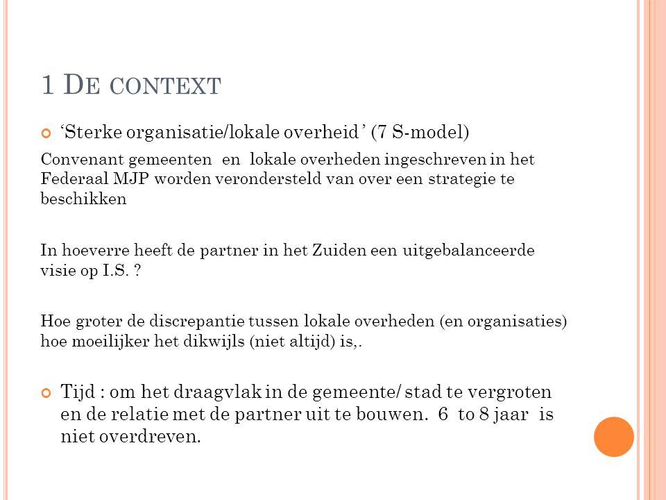 1 De context 'Sterke organisatie/lokale overheid ' (7 S-model)