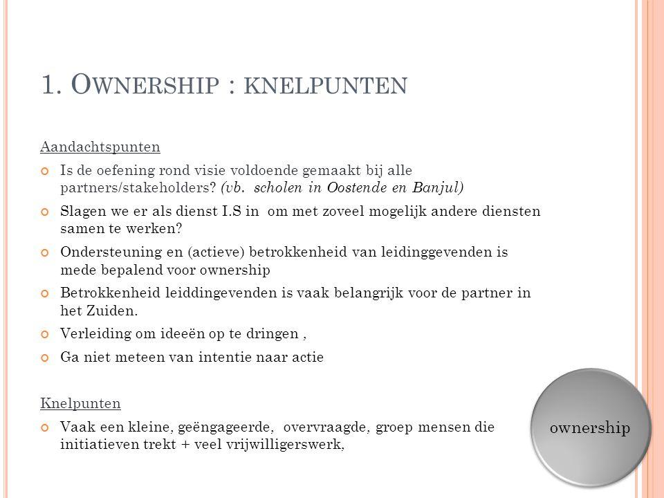 1. Ownership : knelpunten