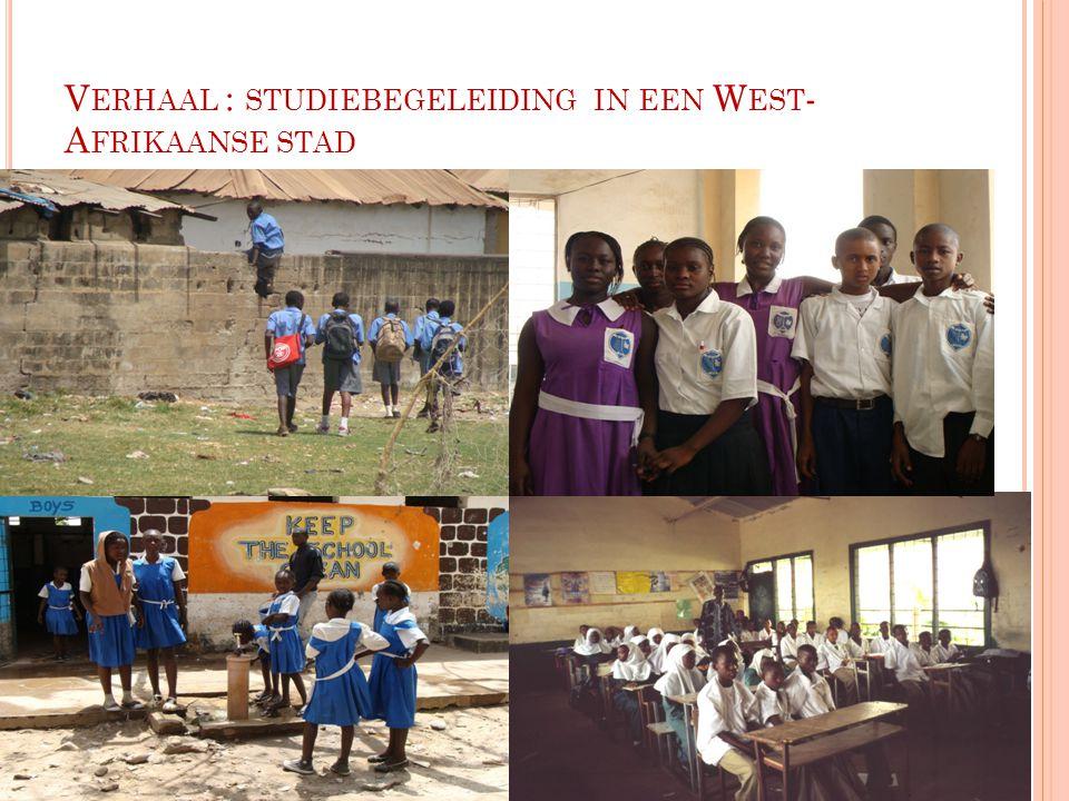 Verhaal : studiebegeleiding in een West-Afrikaanse stad