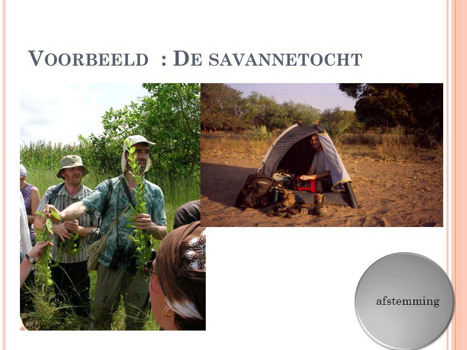Voorbeeld : De savannetocht
