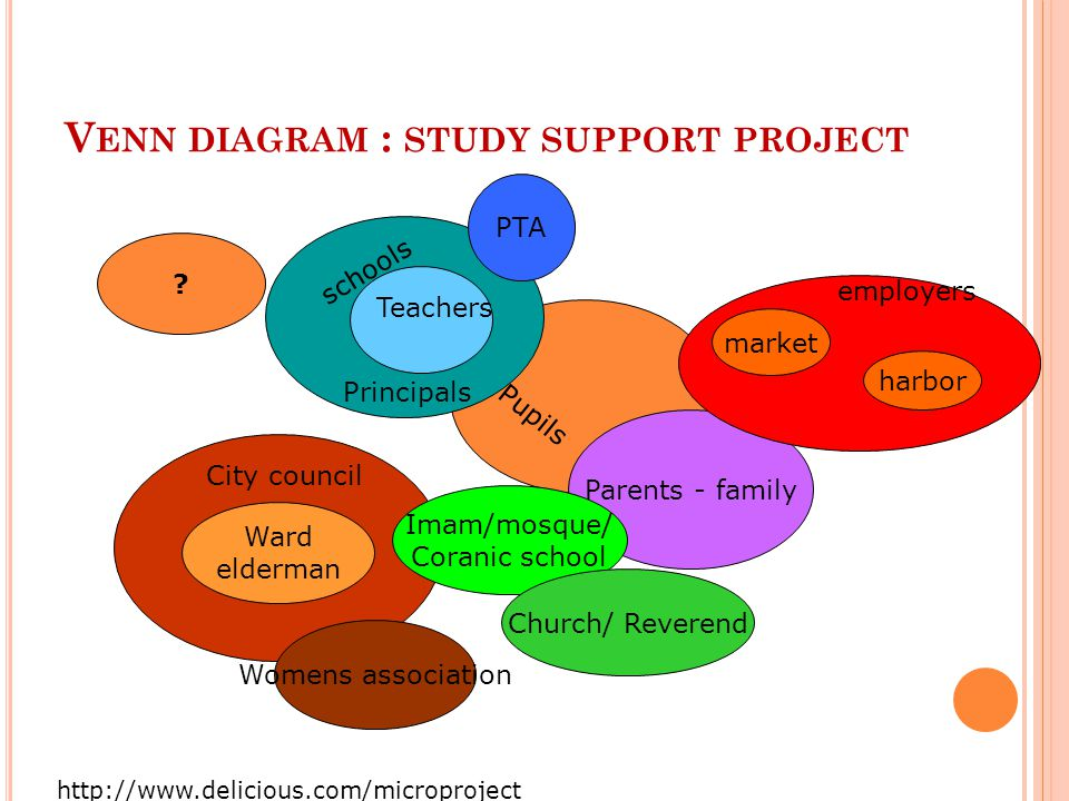 Venn diagram : study support project
