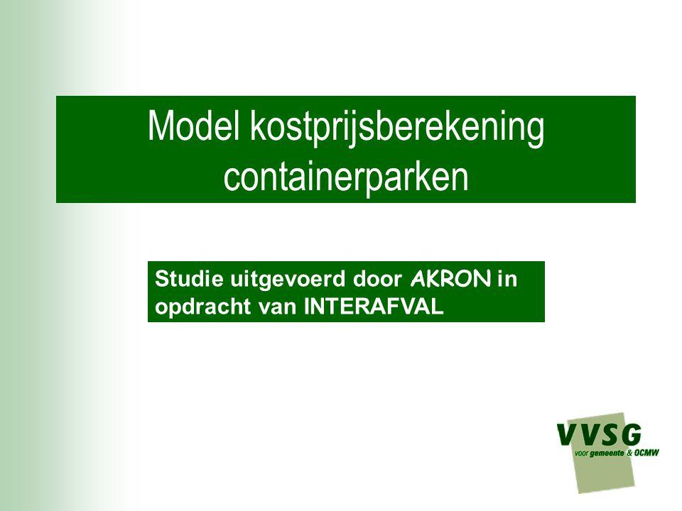 Model kostprijsberekening containerparken