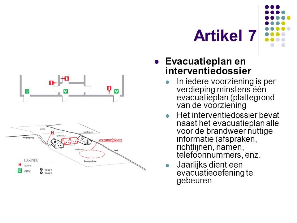 Artikel 7 Evacuatieplan en interventiedossier