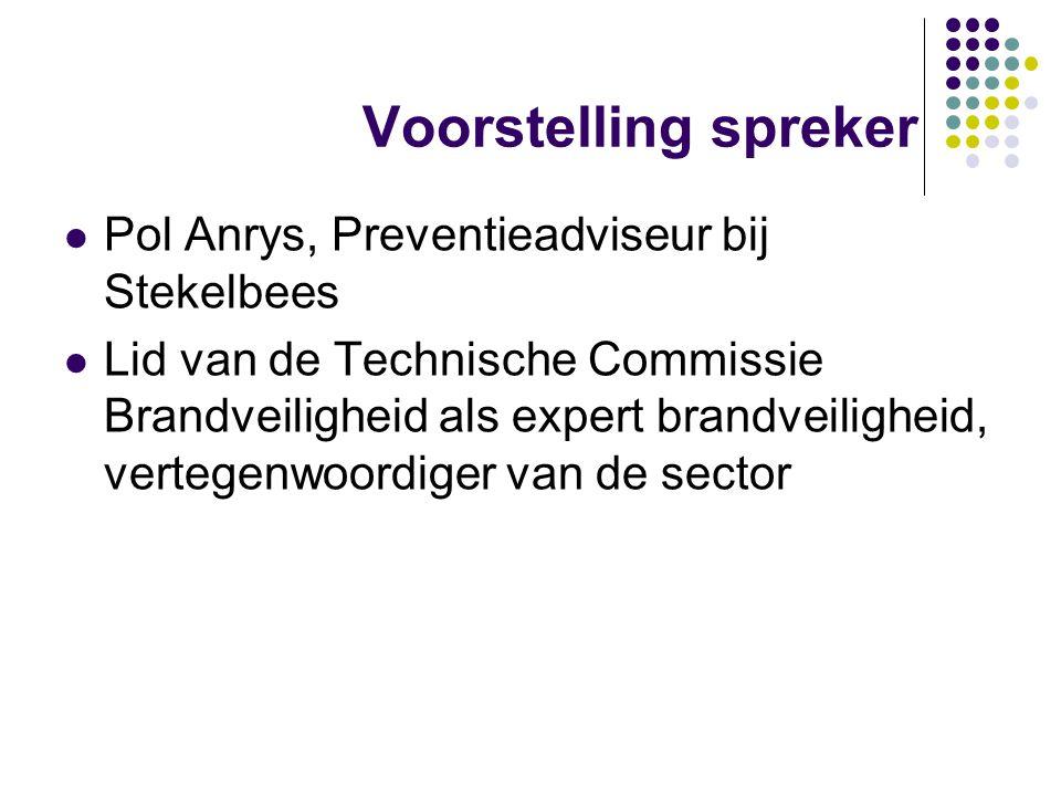 Voorstelling spreker Pol Anrys, Preventieadviseur bij Stekelbees