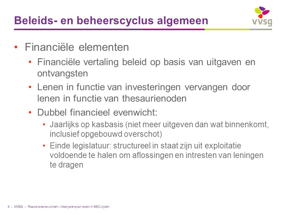Beleids- en beheerscyclus algemeen