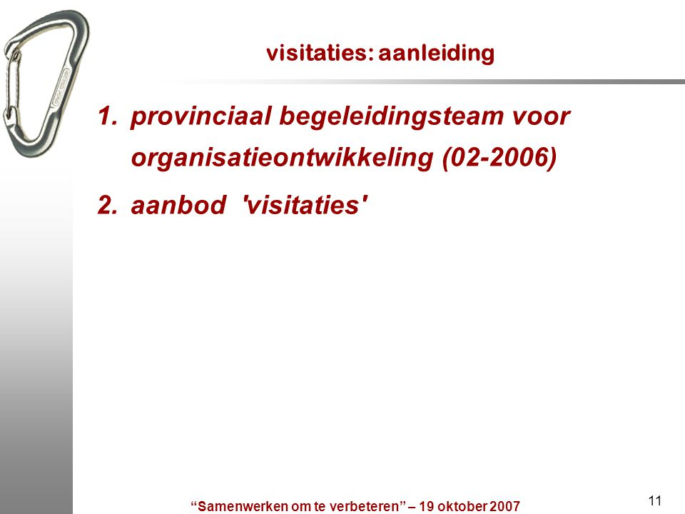 visitaties: aanleiding