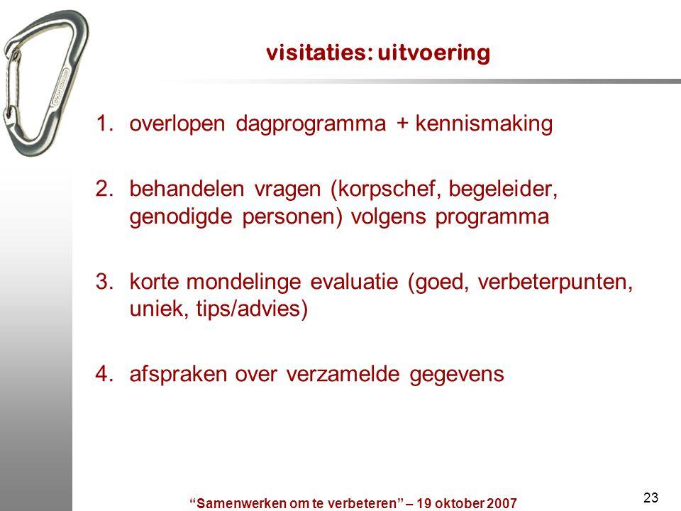 visitaties: uitvoering