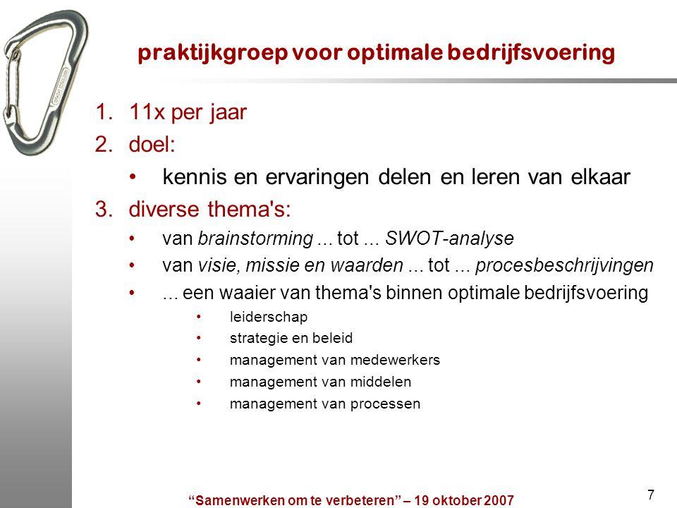 praktijkgroep voor optimale bedrijfsvoering