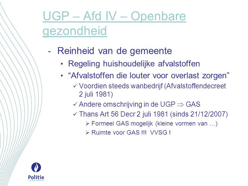 UGP – Afd III – Ambulante en kermisactiviteiten