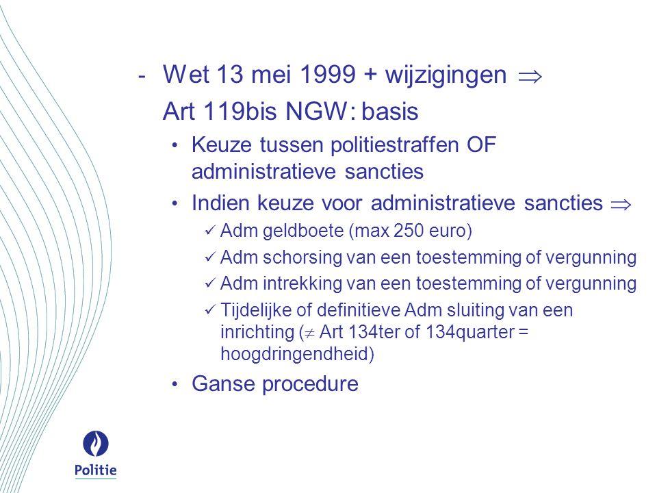 Integratie in één politiereglement. Wettelijke en reglementaire basis.