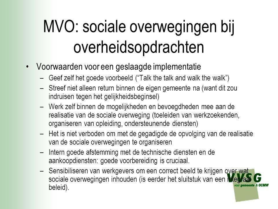 MVO: sociale overwegingen bij overheidsopdrachten