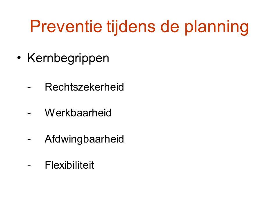 Preventie tijdens de planning