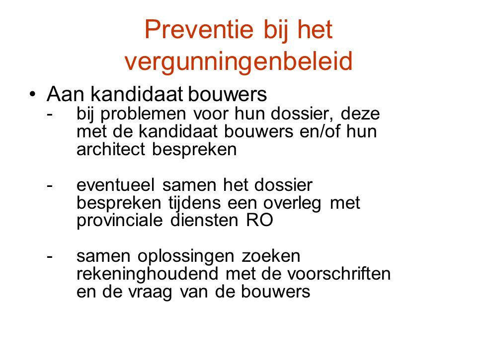 Preventie bij het vergunningenbeleid