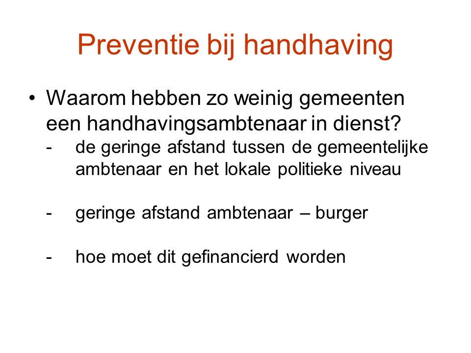 Preventie bij handhaving