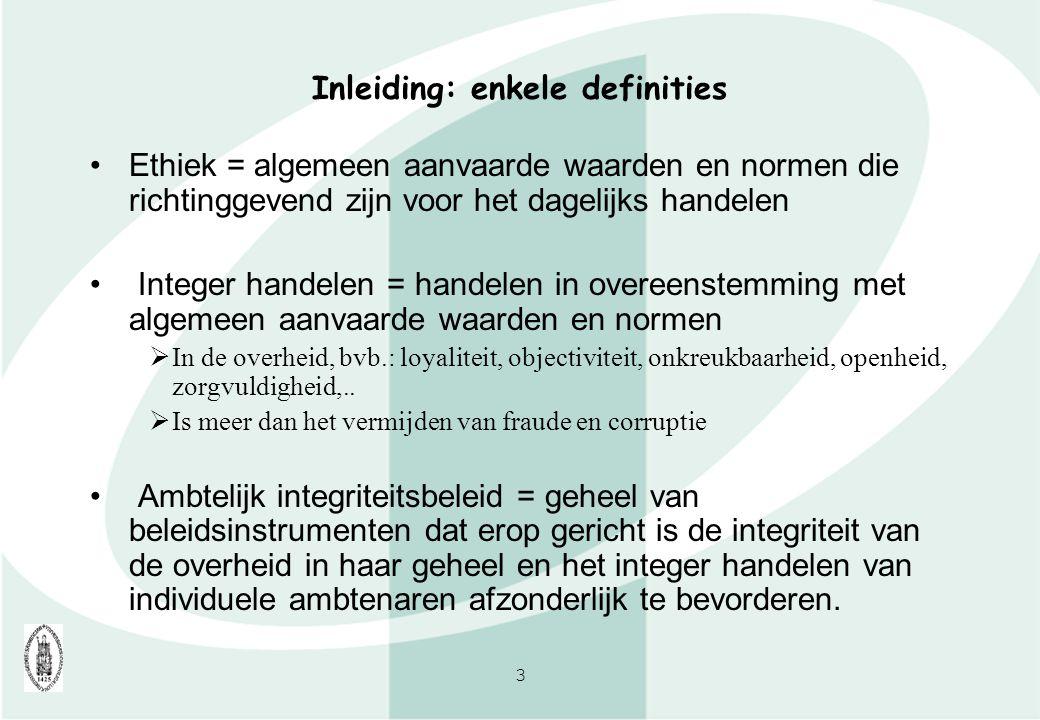 Inleiding: enkele definities