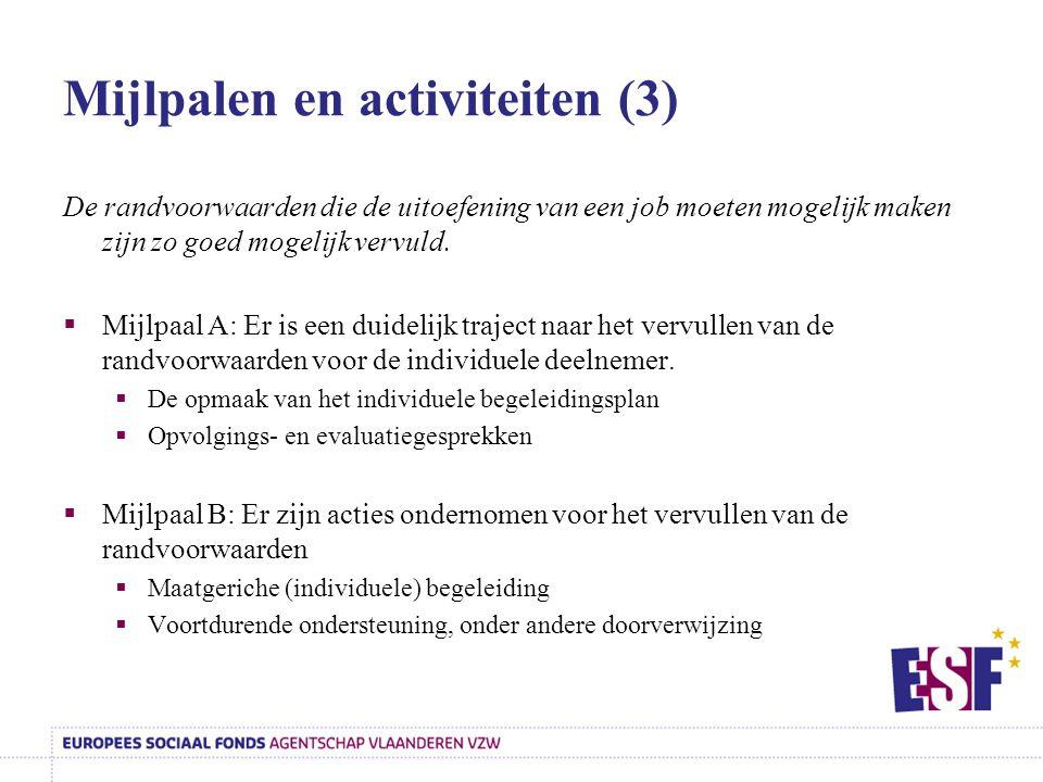 Mijlpalen en activiteiten (3)