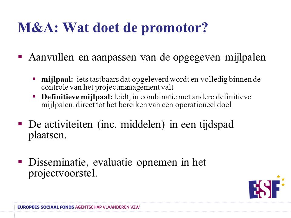M&A: Wat doet de promotor