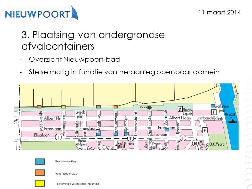 3. Plaatsing van ondergrondse afvalcontainers
