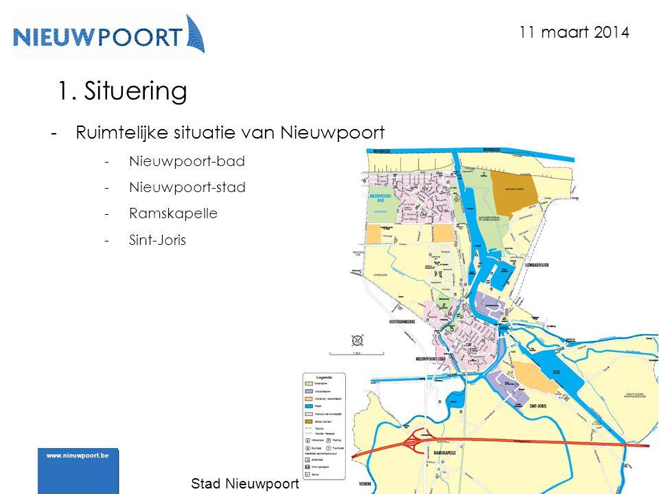 1. Situering Ruimtelijke situatie van Nieuwpoort 11 maart 2014