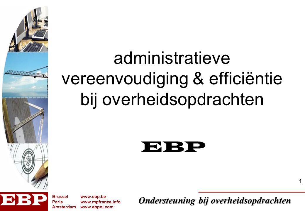 administratieve vereenvoudiging & efficiëntie bij overheidsopdrachten