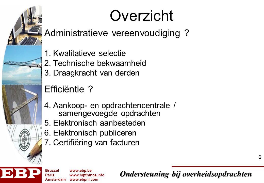 Overzicht Administratieve vereenvoudiging Efficiëntie