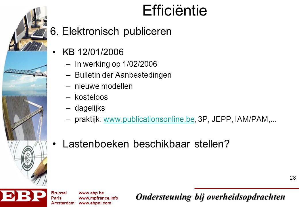 Efficiëntie 6. Elektronisch publiceren