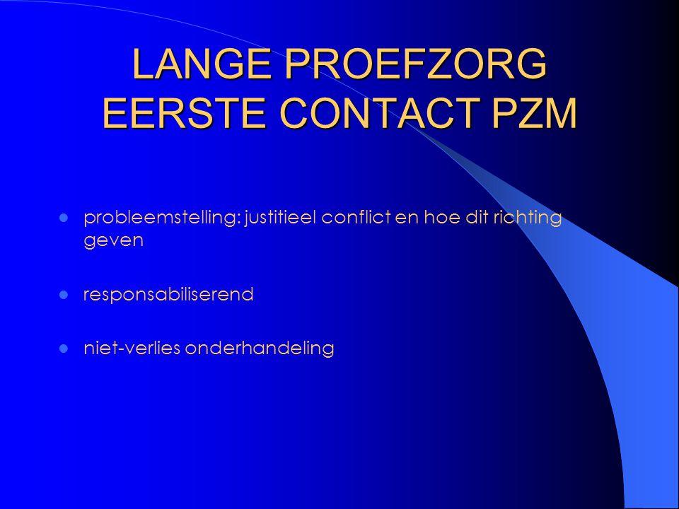 LANGE PROEFZORG EERSTE CONTACT PZM